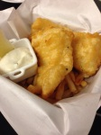 Crispy, juicy fish and chips